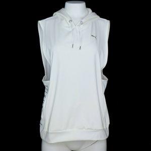 Puma Womens Vest Hooded Drawstring Size L New